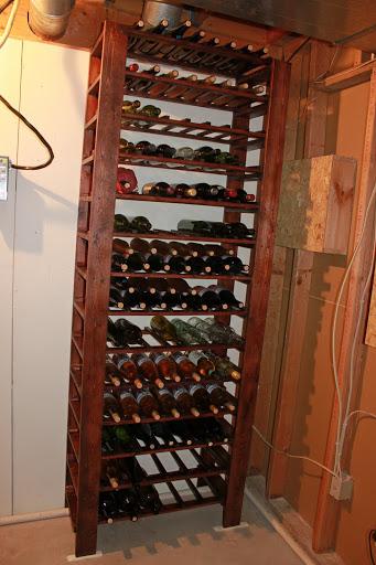 DIY Wine Rack With Glass Shelf - Between3Sisters